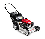 Honda lawn mower isolated on white background with clipping path