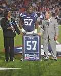 Ole Miss defensive tackle Jerrell Powe (57) on Senior Day at Vaught-Hemingway Stadium in Oxford, Miss. on Saturday, November 27, 2010.