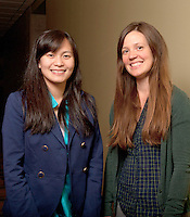 UWRF McNair Scholar, Phoua Yang, Psychology, College of Arts and Sciences with faculty mentor Melanie Ayres, right.