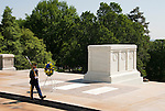 Washington DC; USA: Arlington National Cemetery, Tomb of the Unknown Soldier.Photo copyright Lee Foster Photo # 32-washdc80562