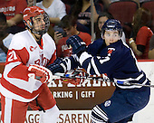 Sean Escobedo (BU - 21), Anthony Bergin (Toronto - 27) - The Boston University Terriers defeated the visiting University of Toronto Varsity Blues 9-3 on Saturday, October 2, 2010, at Agganis Arena in Boston, MA.