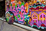Moped Mirror on Hosier Lane, Melbourne.