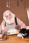 Santa Claus in his workshop
