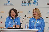 SCHAATSEN: ERMELO: 21-05-2014 Team Continu Perspresentatie, Ireen Wust, Marianne Timmer, ©foto Martin de Jong