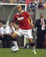 Gabriel Obertan #26 of Manchester United during the 2010 MLS All-Star match against the MLS All-Stars at Reliant Stadium, on July 28 2010, in Houston, Texas. ManU won 5-2.