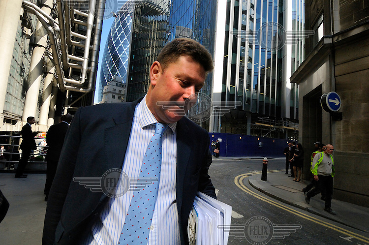 Businesman in the City of London.