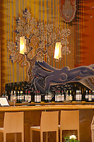 The wine bar at the Maison de Vin CIVB, Allees de Tourny. Bordeaux city, Aquitaine, Gironde, France