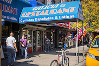 Dominican restaurant in the primarily Dominican New York neighborhood of Washington Heights on Saturday, October 18, 2014. (© Richard B. Levine)