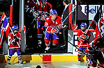 26 October 2009: Montreal Canadiens' left wing forward Mike Cammalleri takes to the ice prior to facing the New York Islanders at the Bell Centre in Montreal, Quebec, Canada. The Canadiens defeated the Islanders 3-2 in sudden death overtime for their 4th consecutive win. Mandatory Credit: Ed Wolfstein Photo