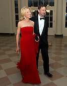 Dr. Amy Gutman, President of the University of Pennsylvania and Christopher H. Browne Distinguished Professor of Political Science, Communications, and Philosophy, and Dr. Michael Gutman, arrive for the Official Dinner in honor of Prime Minister David Cameron of Great Britain and his wife, Samantha, at the White House in Washington, D.C. on Tuesday, March 14, 2012..Credit: Ron Sachs / CNP.(RESTRICTION: NO New York or New Jersey Newspapers or newspapers within a 75 mile radius of New York City)
