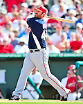 10 March 2010: Washington Nationals' first baseman Adam Dunn in action during a Spring Training game against the St. Louis Cardinals at Roger Dean Stadium in Jupiter, Florida. The Cardinals defeated the Nationals 6-4 in Grapefruit League action. Mandatory Credit: Ed Wolfstein Photo