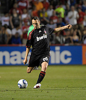 AC Milan defender Claudio Terzi (26) sends in a long cross.  AC Milan defeated the Chicago Fire 1-0 at Toyota Park in Bridgeview, IL on May 30, 2010.