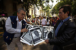 Mexican journalists stage a protest in front of the Mexico City's Veracruz state government venue to demand justice for the assassination of the Proceso magazine's correspondent Regina Martinez in Xalapa, Veracruz state on April 28, 2012. Martinez was found dead in her home. Photo by Heriberto Rodriguez