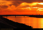 Sunset, Ballona Creek, Playa del Rey, Los Angeles, California