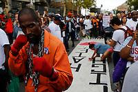 People attend a march against police brutality in Staten Island. 08.23.2014. Eduardo Munoz Alvarez/VIEWpress
