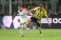 FUSSBALL  CHAMPIONS LEAGUE  HALBFINALE  HINSPIEL  2012/2013      Borussia Dortmund - Real Madrid              24.04.2013 Cristiano Ronaldo (li, Real Madrid) gegen Lukasz Piszczek (re, Borussia Dortmund)