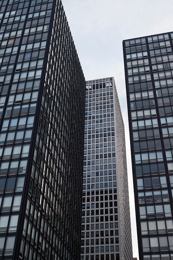 Skyline of skyscrapers, Chicago, Illinois, IL, USA