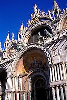 Italy, Venice, Piazza San Marco, Basilica San Marco,facade of church