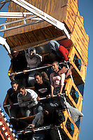 Young people enjoy the rides at the Afra theme park. Khartoum's first mall 'Afra' opened in 2004 and has become popular with affluent Sudanese.