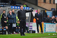 Blackpool manager Gary Bowyer shouts instructions to his team from the dug-out<br /> <br /> Photographer Kevin Barnes/CameraSport<br /> <br /> The EFL Sky Bet League Two - Wycombe Wanderers v Blackpool - Saturday 11th March 2017 - Adams Park - Wycombe<br /> <br /> World Copyright &copy; 2017 CameraSport. All rights reserved. 43 Linden Ave. Countesthorpe. Leicester. England. LE8 5PG - Tel: +44 (0) 116 277 4147 - admin@camerasport.com - www.camerasport.com