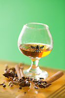 Rim Vilgalys of The Brothers Vilgalys Spirit and his Krupnikas, a traditional Lithuanian style of Spice Honey Liqueur in Durham, N.C. on Thursday, May 1, 2014. (Justin Cook)