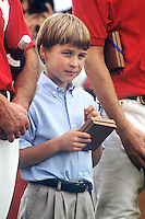 Prince Charles, The Prince of Wales and Prince William, at a prizegiving, at a Polo match, Smiths Lawn, Windsor.