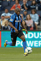 KANSAS CITY, KS - June 1, 2013:<br /> Sanna Nyassi (11) midfield Montreal Impact in action.<br /> Montreal Impact defeated Sporting Kansas City 2-1 at Sporting Park.