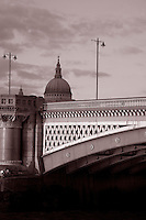 Blackfriars Bridge on the River Thames in London, England