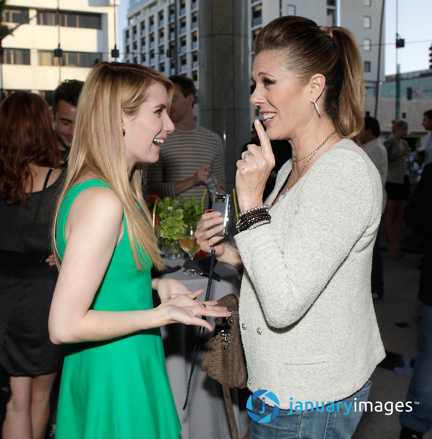 "BEVERLY HILLS, CA - JUNE 06:  Emma Roberts and Rita Wilson attend a Fox Searchlight screening Of ""The Art Of Getting By"" at Clarity Theater on June 6, 2011 in Beverly Hills, California.  (Photo by Todd Williamson/WireImage)"