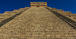 "The Temple of Kukulkan, also known as ""El Castillo"" is at the center of the Chichen Itza archaeological site, Yucatán, Mexico"