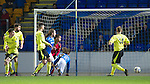 St Johnstone v St Mirren.....11.01.14   SPFL<br /> Murray Davidson heads in the first goal<br /> Picture by Graeme Hart.<br /> Copyright Perthshire Picture Agency<br /> Tel: 01738 623350  Mobile: 07990 594431