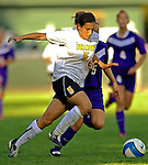 31 August 2007: University of Vermont Catamounts forward Jessica Becker, a Freshman from Woodbridge, CT, in action against the University of Central Arkansas Sugar Bears at Historic Centennial Field in Burlington, Vermont. The Catamounts defeated the Sugar Bears 1-0 during the TD Banknorth Soccer Classic..Mandatory Photo Credit: Ed Wolfstein Photo