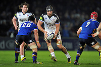 Charlie Ewels of Bath Rugby looks to pass the ball. European Rugby Champions Cup match, between Leinster Rugby and Bath Rugby on January 16, 2016 at the RDS Arena in Dublin, Republic of Ireland. Photo by: Patrick Khachfe / Onside Images