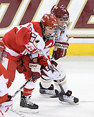 Jillian Kirchner (BU - 18), Kelli Stack (BC - 16) - The visiting Boston University Terriers defeated the Boston College Eagles 1-0 on Sunday, November 21, 2010, at Conte Forum in Chestnut Hill, Massachusetts.