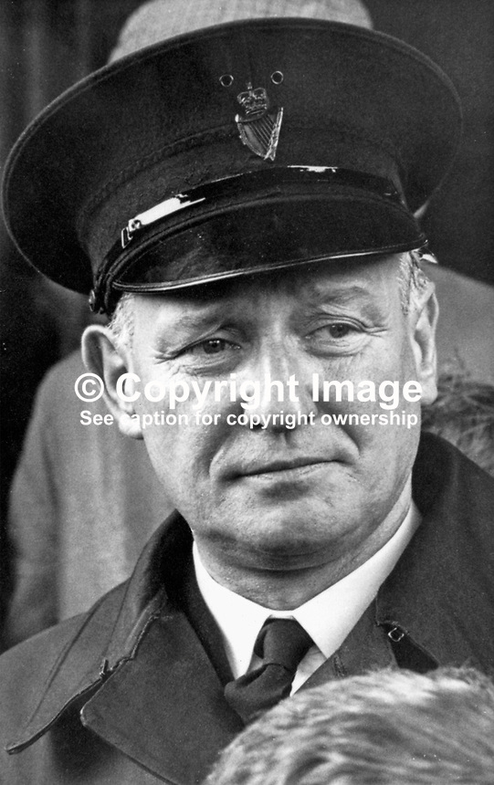Head Constable Bob Finlay, RUC, Belfast, N Ireland, September 1968, 196809000078<br />