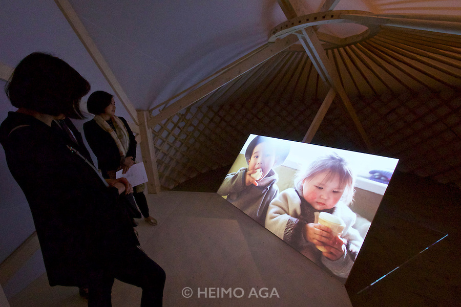 Venice, Italy - 15th Architecture Biennale 2016, &quot;Reporting from the Front&quot;.<br /> Arsenale.<br /> The Work of Rural Urban Framework in Mongolia.