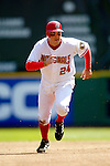 11 April 2006: Nick Johnson, first baseman for the Washington Nationals, on the basepath during the Nationals' Home Opener against the New York Mets in Washington, DC. The Mets defeated the Nationals 7-1 to start the 2006 season at RFK Stadium...Mandatory Photo Credit: Ed Wolfstein Photo..