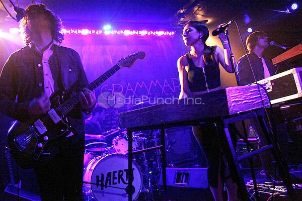 PHILADELPHIA, PA - APRIL 12 : Haerts perform at Underground Arts in Philadelphia, Pa on April 12, 2014 photo credit © Star Shooter / MediaPunch