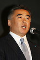Apr. 26 - Tokyo, Japan - Kiyotake Fujii, president of Better Place's Japan operation and Head of Business Development Asia Pacific, delivers a speech during a press conference to announce the world's first switchable-battery electric taxi in Tokyo on April 26, 2010. Global electric vehicle service provider Better Place demonstrated the taxi with the Japanese Ministry of Economy, Trade, and Industry, and Tokyo's largest taxi operator Nihon Kotsu.