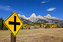 WY01825-00...WYOMING - The Teton range in Grand Teton National Park.