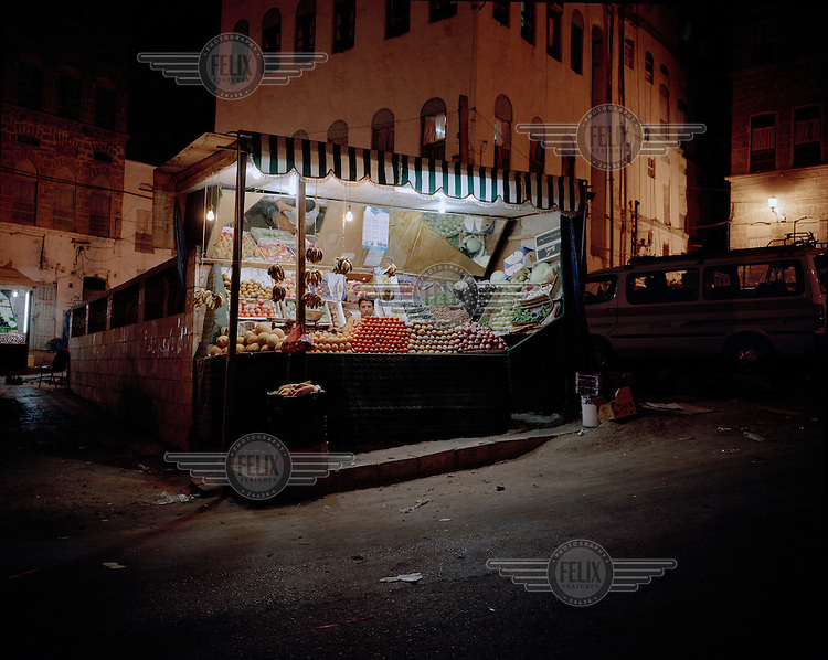 Grocery stall at night..
