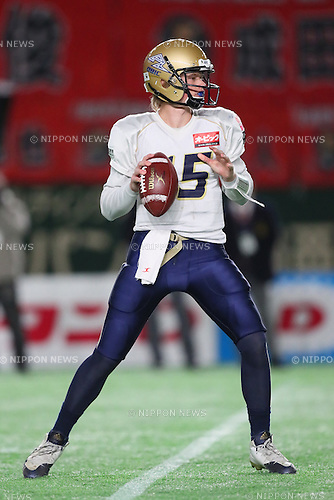 Jerry Neuheisel (Seagulls), <br /> DECEMBER 12, 2016 - American Football : <br /> X League Championship &quot;Japan X Bowl&quot; <br /> between Obic Seagulls 3-16 Fujitsu Frontiers <br /> at Tokyo Dome, Tokyo, Japan. <br /> (Photo by YUTAKA/AFLO SPORT)