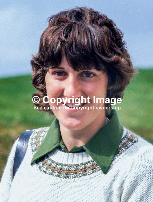 Maureen Madill, Portstewart, N Ireland, golfer, competitor, Irish Women's Close Championship, at Murvagh, Co Donegal, 1979050034MM. In later years she became a golf journalist and television commentator,..Copyright Image from Victor Patterson, 54 Dorchester Park, Belfast, UK, BT9 6RJ..Tel: +44 28 9066 1296.Mob: +44 7802 353836.Voicemail +44 20 8816 7153.Skype: victorpattersonbelfast.Email: victorpatterson@me.com.Email: victorpatterson@ireland.com (back-up)..IMPORTANT: If you wish to use this image or any other of my images please go to www.victorpatterson.com and click on the Terms & Conditions. Then contact me by email or phone with the reference number(s) of the image(s) concerned.
