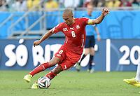 FUSSBALL WM 2014  VORRUNDE    GRUPPE E     Schweiz - Frankreich                   20.06.2014 Goekhan Inler (Schweiz) am Ball