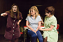 London, UK. 12.10.2015. HOW I LEARNED TO DRIVE, by Paula Vogel, directed by Jack Sain, opens at Southwark Playhouse. Picture shows:  Bryony Corrigan (Teenage Greek Chorus), Olivia Poulet (LI'L BIT) and Holly Hayes (Female Greek Chorus).  Photograph © Jane Hobson.