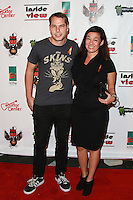 LOS ANGELES, CA, USA - OCTOBER 26: Shepard Fairey, Amanda Fairey arrive at An Evening Of Art With Billy Morrison And Joey Feldman Benefiting The Rock Against MS Foundation held at Village Studios on October 26, 2014 in Los Angeles, California. (Photo by David Acosta/Celebrity Monitor)