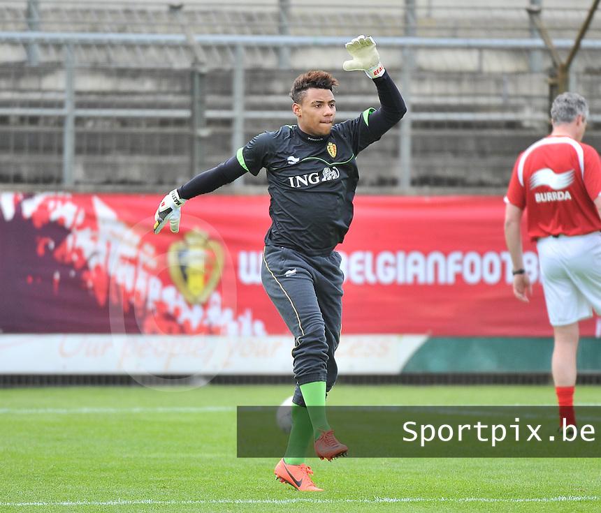 Belgium U19 - England U19 : Merveille Goblet.foto DAVID CATRY / Nikonpro.be