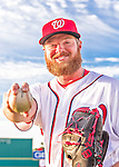 28 February 2016: Washington Nationals pitcher Aaron Barrett poses for his Spring Training Photo-Day portrait at Space Coast Stadium in Viera, Florida. Mandatory Credit: Ed Wolfstein Photo *** RAW (NEF) Image File Available ***