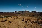 Track in the distance.Parque nacional de las Cañadas,Tenerife, Gran Canaria, Spain