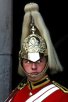 Guard at Horse Guards, Strand, London, Great Britain, UK